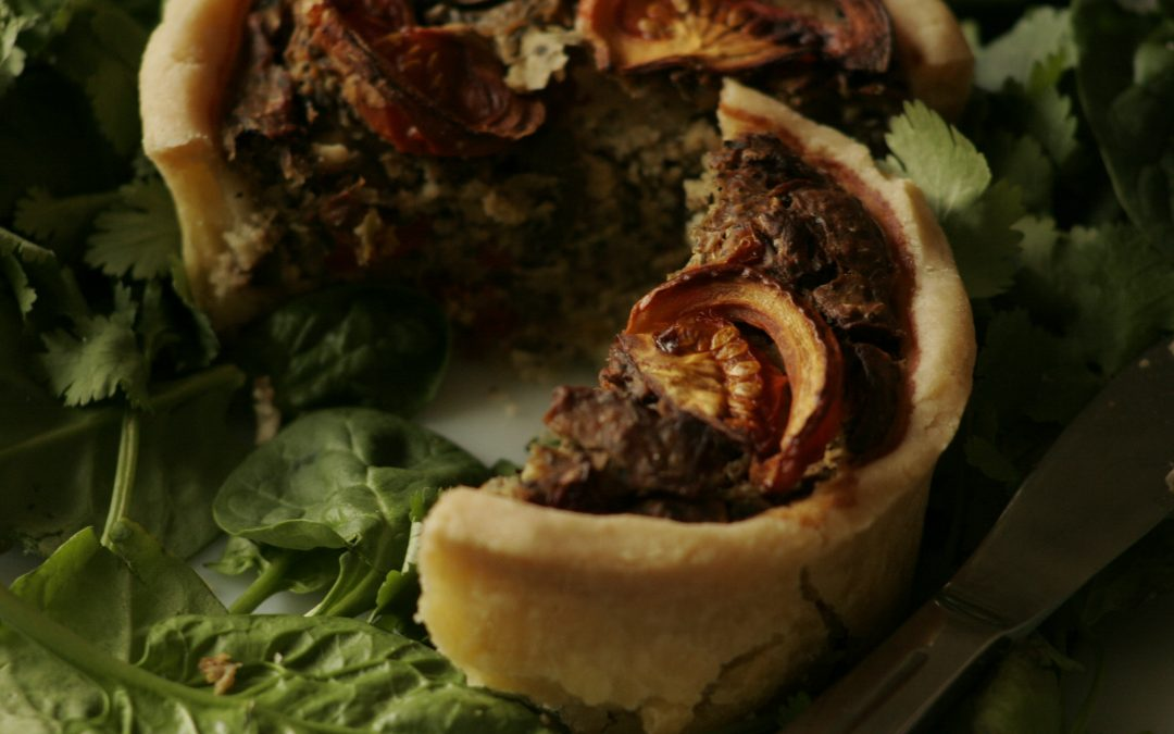 Gluten Free Vegan Mediterranean Roast Vegetable Quiche Recipe