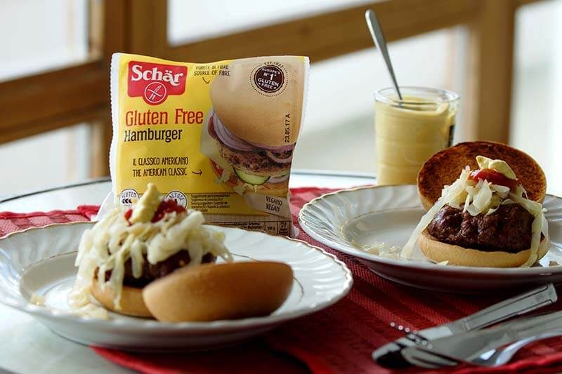 Gluten Free Rosemary and Mustard Burgers with Schar American Style Burger Buns