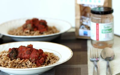 Low FODMAP Herby Meatballs with Fodify Foods and Nomad Health Pasta (Gluten Free, Dairy Free, Egg Free, Nut Free, Low-FODMAP)