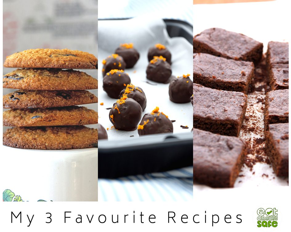 My 3 favourite chocolate treats free from top 14 allergens chocolate chip cookies chocolate truffles and sweet potato brownies